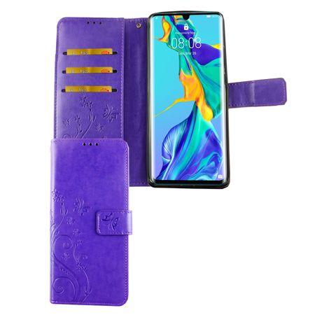 Huawei P30 Pro New Editition Handy-Hülle Schutz-Tasche Cover Flip-Case Kartenfach Violett