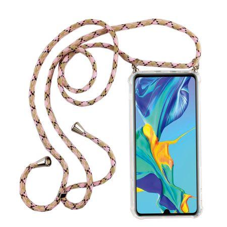 Handykette für Huawei P30 Pro New Editition - Smartphone Necklace Hülle mit Band - Schnur mit Case zum umhängen in Rosa
