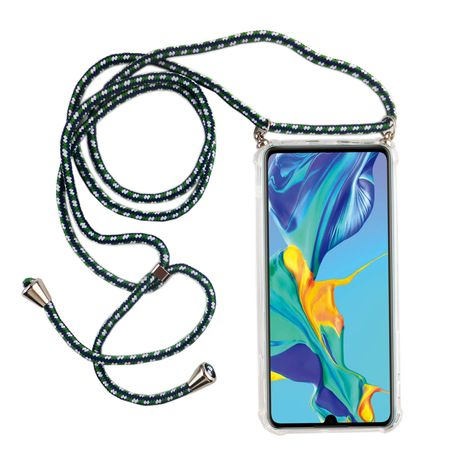 Handykette für Huawei P30 Pro New Editition - Smartphone Necklace Hülle mit Band - Schnur mit Case zum umhängen in Grün