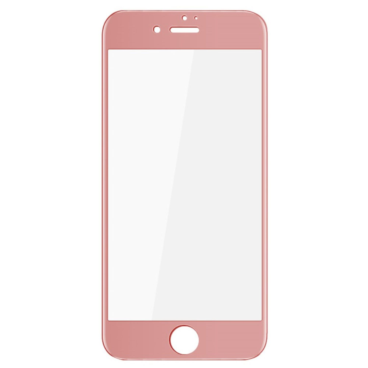 Apple iPhone SE 2020 3D Panzer Glas Folie Display Schutzfolie Hüllen Case Rose