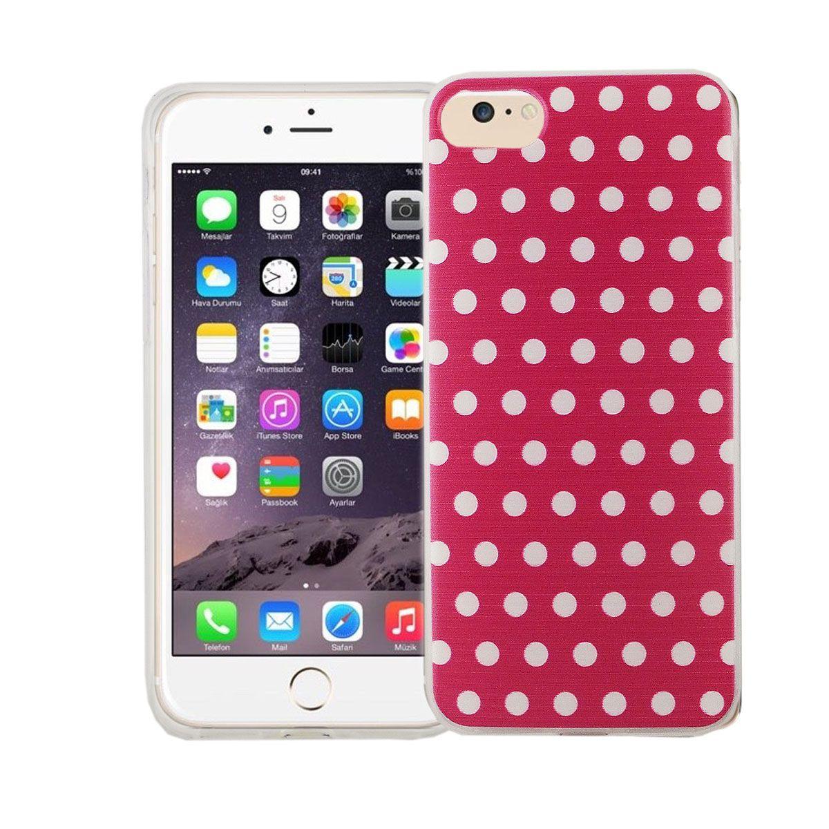Handy Hülle für Apple iPhone SE 2020 Cover Case Schutz Tasche Motiv Slim Silikon TPU Polka Dot Pink