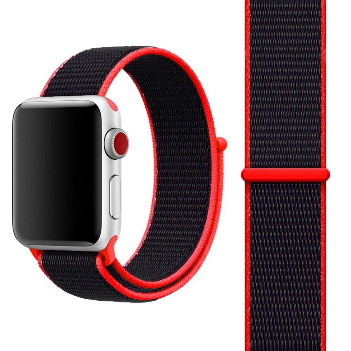 Sport Ersatz Armband für Apple Watch Series 38 – 41 mm Nylon