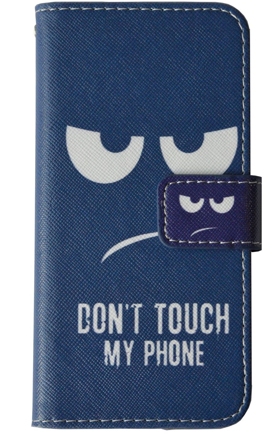 Don't Touch My Phone Handyhülle Apple iPhone SE 2020  Smiley Blau