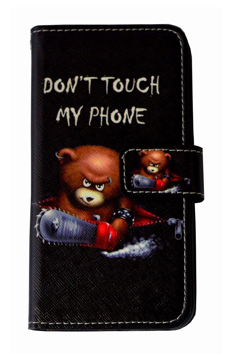 Don't Touch My Phone Bär Handyhülle Apple iPhone SE 2020  Schwarz