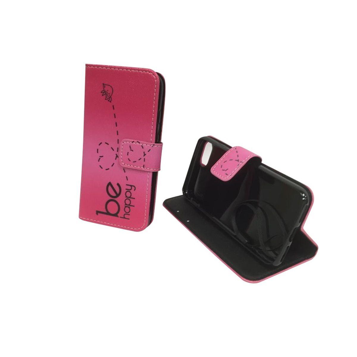 Handyhülle Tasche für Handy Apple iPhone SE 2020 Be Happy Pink