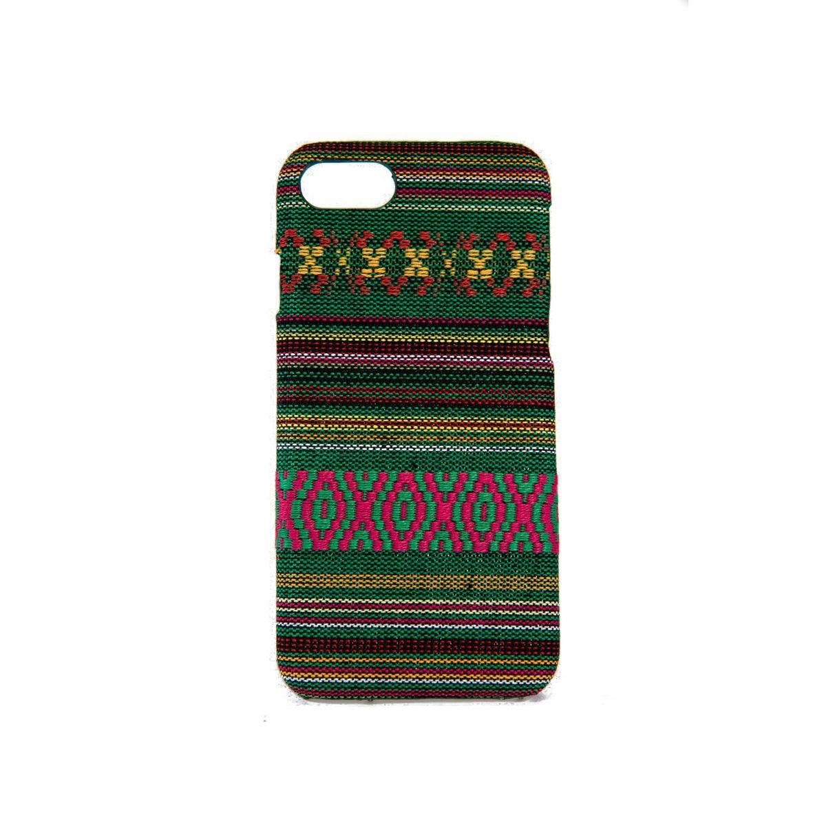 Handyhülle aus Stoff-Case für Apple iPhone SE 2020 Cover Etuis Bumper Schale Grün