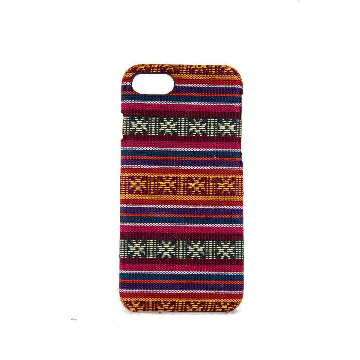 Handyhülle aus Stoff-Case für Apple iPhone SE 2020 Cover Etuis Bumper Schale Pink