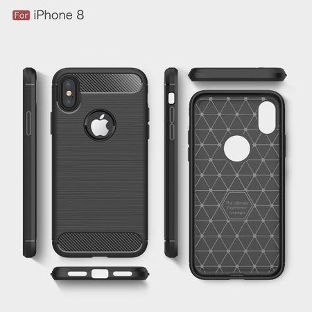Apple iPhone X Cover TPU Case Silikon Schutz-Hülle Handy Bumper Carbon Optik Schwarz – Bild 9