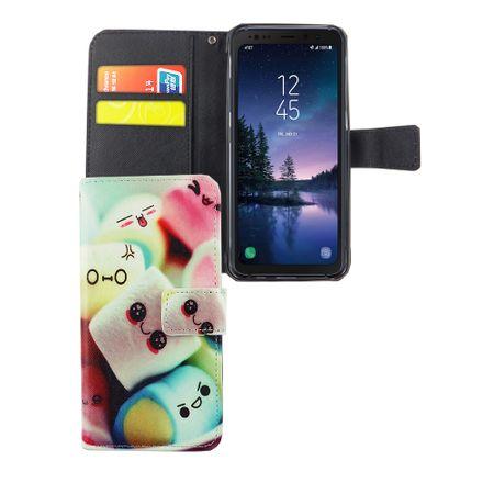 Handyhülle Tasche für Handy Samsung Galaxy S8 Active Schriftzug Marshmallows – Bild 1