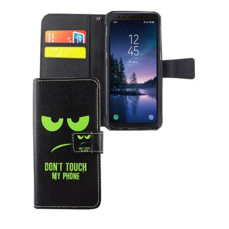Handyhülle Tasche für Handy Samsung Galaxy S8 Active Dont Touch My Phone Grün – Bild 1