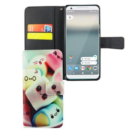 Handyhülle Tasche für Handy Google Pixel XL 2 Schriftzug Marshmallows