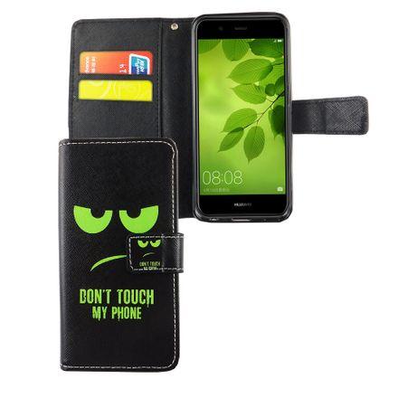 Dont Touch My Phone Handyhülle Huawei Nova 2 Klapphülle Wallet Case – Bild 4