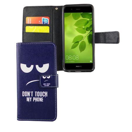 Dont Touch My Phone Handyhülle Huawei Nova 2 Plus Klapphülle Wallet Case – Bild 4