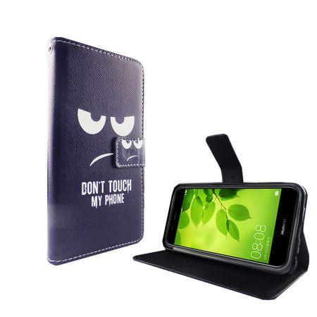 Dont Touch My Phone Handyhülle Huawei Nova 2 Plus Klapphülle Wallet Case – Bild 5