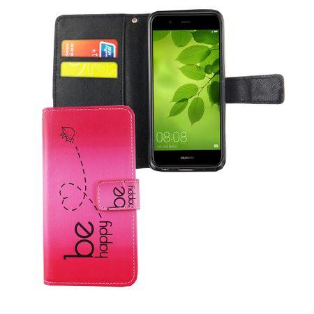 Handyhülle Tasche für Handy Huawei Nova 2 Plus Be Happy Pink – Bild 4
