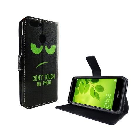 Dont Touch My Phone Handyhülle Huawei Nova 2 Plus Klapphülle Wallet Case