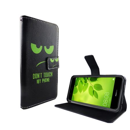 Dont Touch My Phone Handyhülle Huawei Nova 2 Plus Klapphülle Wallet Case – Bild 6