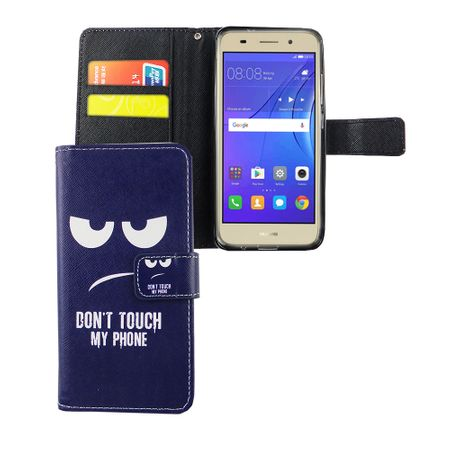 Dont Touch My Phone Handyhülle Huawei Y3 2017 Klapphülle Wallet Case