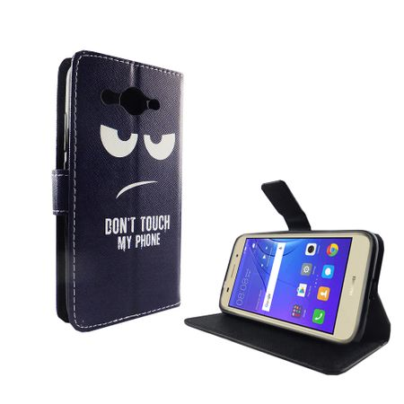 Dont Touch My Phone Handyhülle Huawei Y3 2017 Klapphülle Wallet Case – Bild 3
