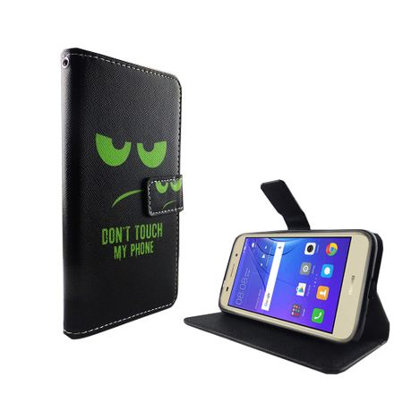 Dont Touch My Phone Handyhülle Huawei Y3 2017 Klapphülle Wallet Case – Bild 2