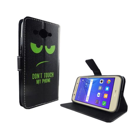 Dont Touch My Phone Handyhülle Huawei Y3 2017 Klapphülle Wallet Case – Bild 6