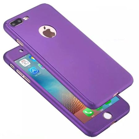Samsung Galaxy J3 2017 US Version Handy-Hülle Case Panzer Schutz Glas Violett