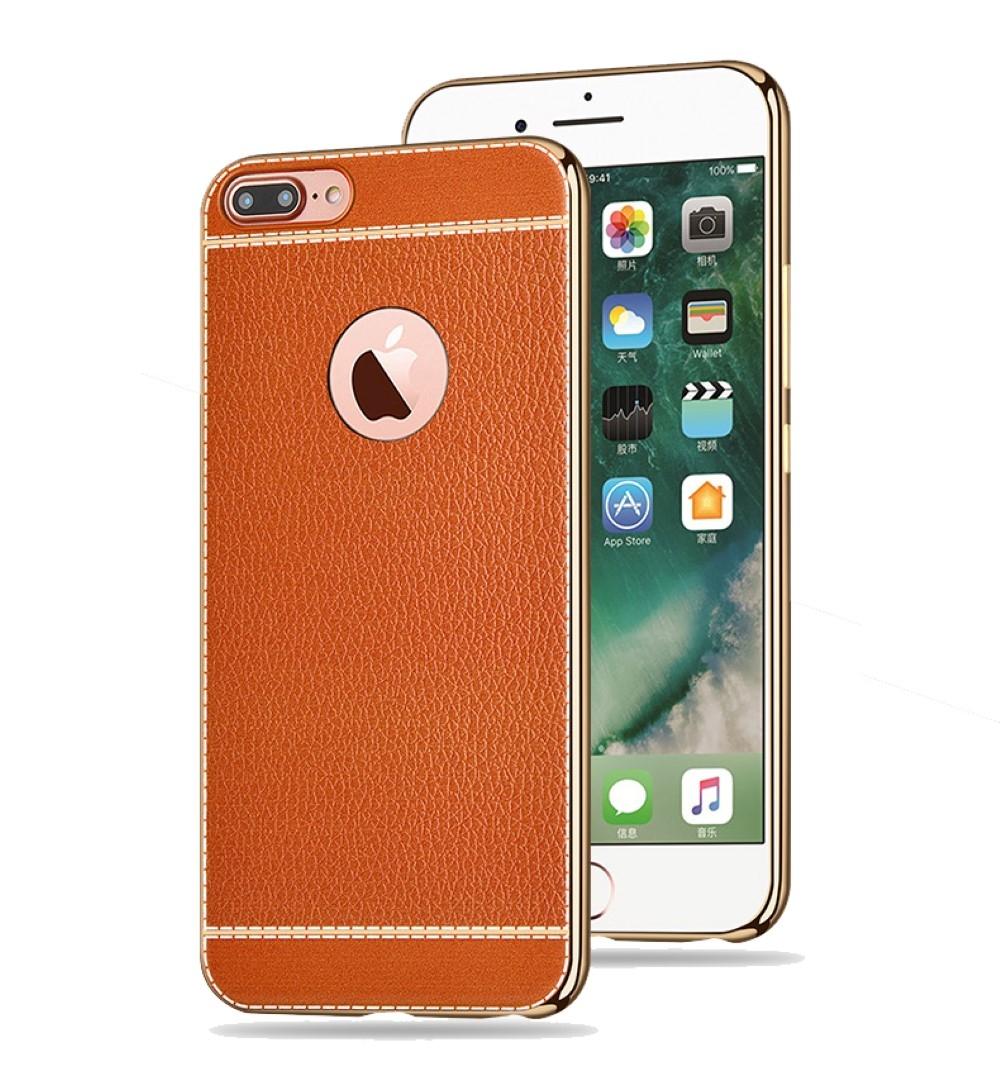 handy h lle f r apple iphone 6s plus schutz case tasche bumper kunstleder braun. Black Bedroom Furniture Sets. Home Design Ideas