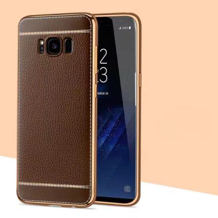 Handy Hülle für Samsung Galaxy J3 2017 Schutz Case Tasche Etui Kunstleder Braun – Bild 2