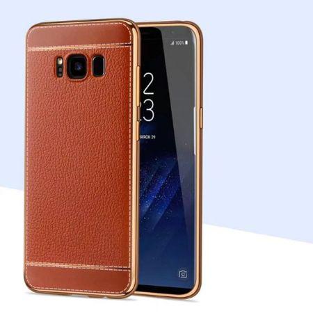 Handy Hülle für Samsung Galaxy A5 2017 Schutz Case Tasche Etui Kunstleder Braun – Bild 2