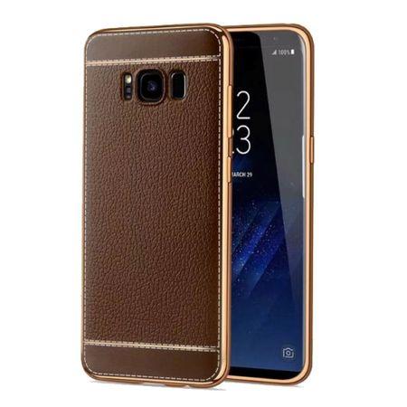 Handy Hülle für Samsung Galaxy S6 Edge Schutz Case Tasche Etui Kunstleder Braun