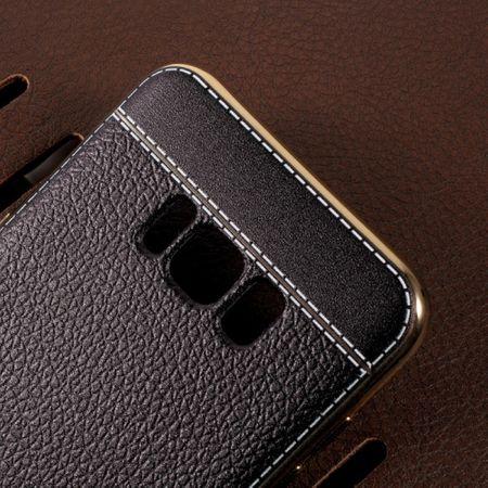 Handy Hülle für Samsung Galaxy S6 Edge Schutz Case Tasche Etui Kunstleder Braun – Bild 5