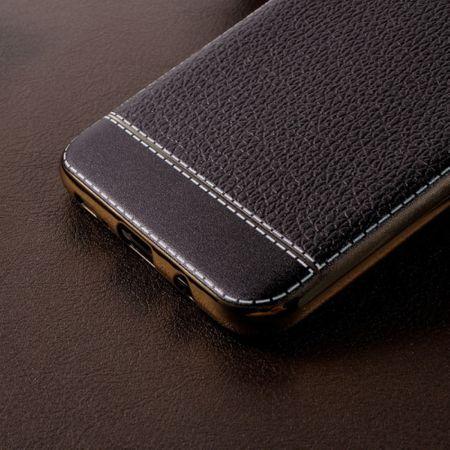 Handy Hülle für Samsung Galaxy S6 Edge Schutz Case Tasche Bumper Kunstleder Rot – Bild 3