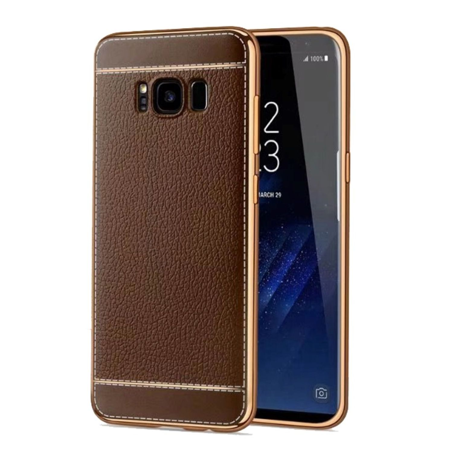 samsung galaxy s7 edge handy h lle schutz case chrom back. Black Bedroom Furniture Sets. Home Design Ideas