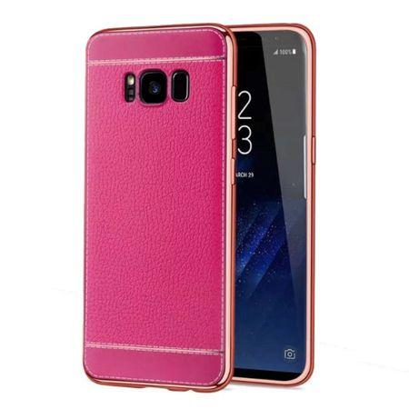 Handy Hülle für Samsung Galaxy S8+ Plus Schutz Case Tasche Etui Kunstleder Pink – Bild 1