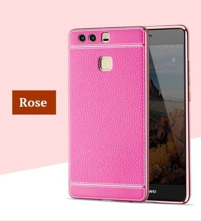 Handy Hülle für Huawei P8 Lite 2017 Schutz Case Tasche Bumper Kunstleder Pink – Bild 2