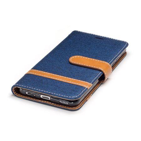 Tasche für Huawei P10 Jeans Cover Handy Schutz Hülle Case Dunkelblau – Bild 6