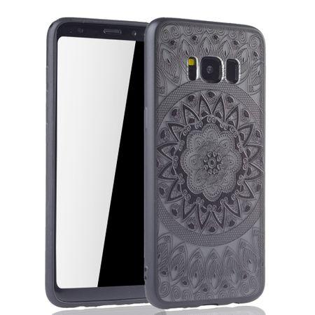 Handy Hülle Mandala für Samsung Galaxy S8 Design Case Schutzhülle Motiv Kreis Cover Tasche Bumper Schwarz – Bild 2