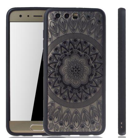Handy Hülle Mandala für Huawei Honor 9 Design Case Schutzhülle Motiv Kreis Cover Tasche Bumper Schwarz – Bild 1