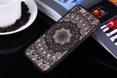 Handy Hülle Mandala für Huawei Honor 6A Design Case Schutzhülle Motiv Kreis Cover Tasche Bumper Schwarz – Bild 2