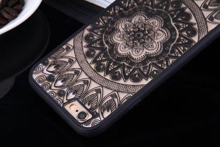 Handy Hülle Mandala für Huawei Honor 6A Design Case Schutzhülle Motiv Kreis Cover Tasche Bumper Schwarz – Bild 8