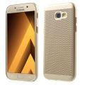 Handy Hülle für Samsung Galaxy A7 2017 Schutzhülle Case Tasche Cover Etui Gold 001