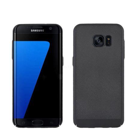Handy Hülle für Samsung Galaxy S7 Edge Schutzhülle Case Tasche Cover Etui Schwarz