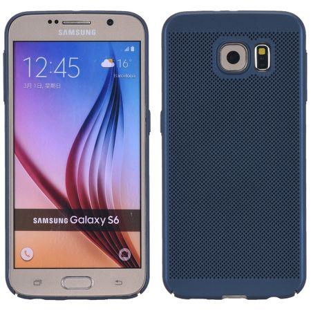 Handy Hülle für Samsung Galaxy S6 Schutzhülle Case Tasche Cover Etui Blau