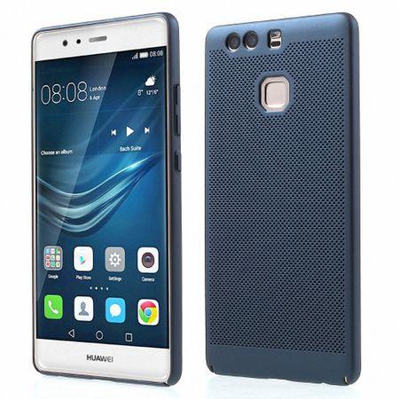 Handy Hülle für Huawei P8 Lite 2017 Schutzhülle Case Tasche Cover Etui Blau