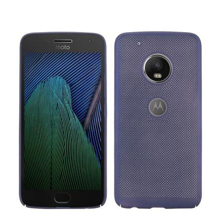 Handy Hülle für Motorola Moto G5 Plus Schutzhülle Case Tasche Cover Etui Blau