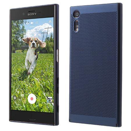 Handy Hülle für Sony Xperia XA1 Schutzhülle Case Tasche Cover Etui Blau