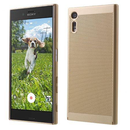 Handy Hülle für Sony Xperia XZ Schutzhülle Case Tasche Cover Etui Gold – Bild 1
