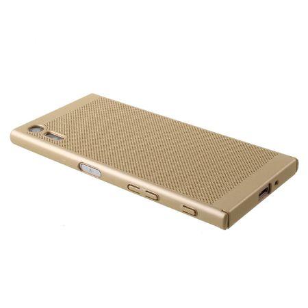 Handy Hülle für Sony Xperia XZ Schutzhülle Case Tasche Cover Etui Gold – Bild 3