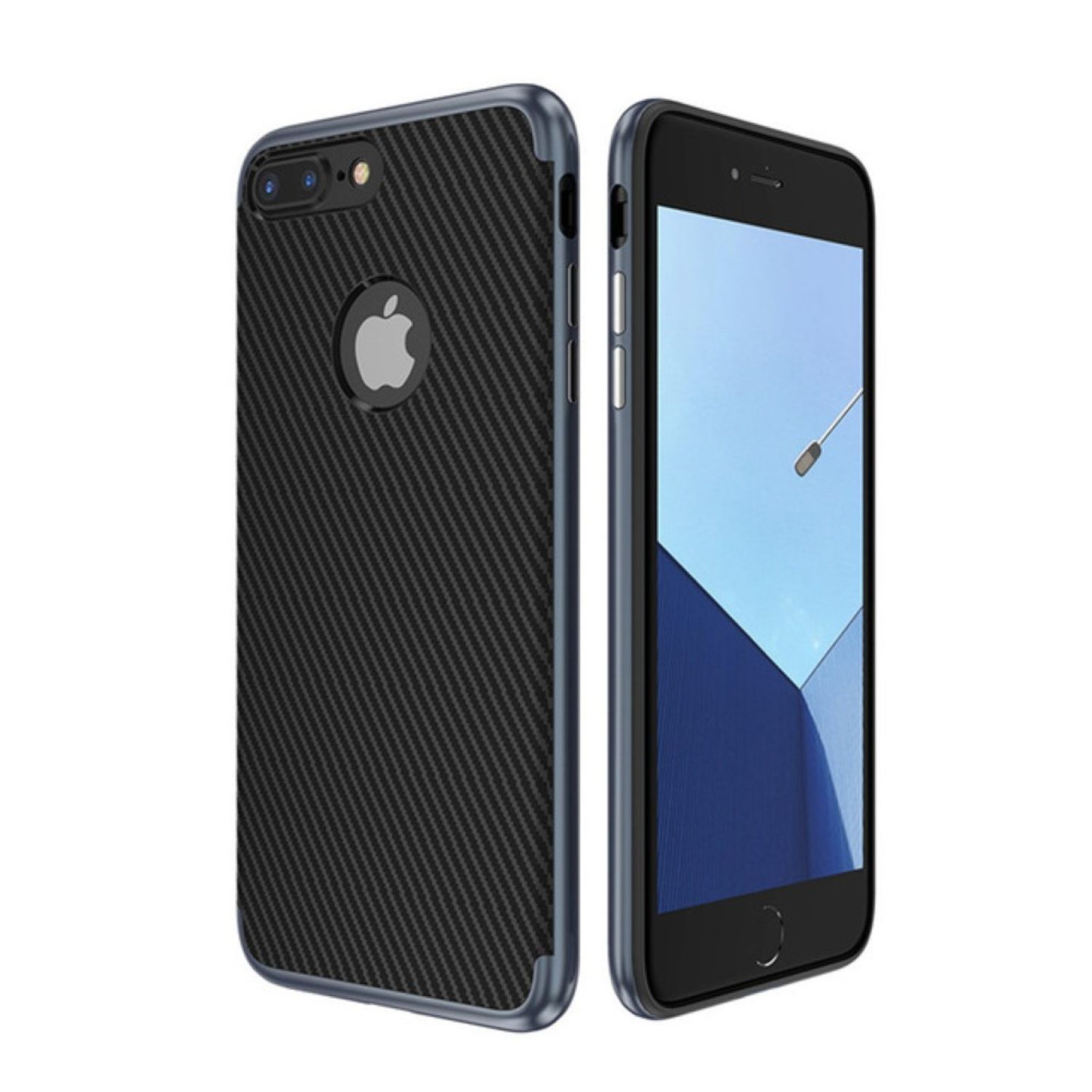 hybrid silikon handy h lle f r apple iphone 7 plus case cover tasche blau. Black Bedroom Furniture Sets. Home Design Ideas