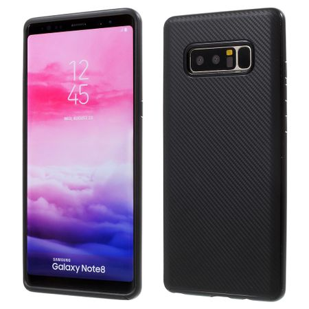 Hybrid Silikon Handy Hülle für Samsung Galaxy S8+ Plus Case Cover Tasche Schwarz